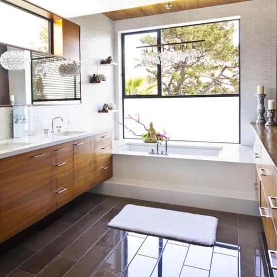 Different types Bathroom window treatments