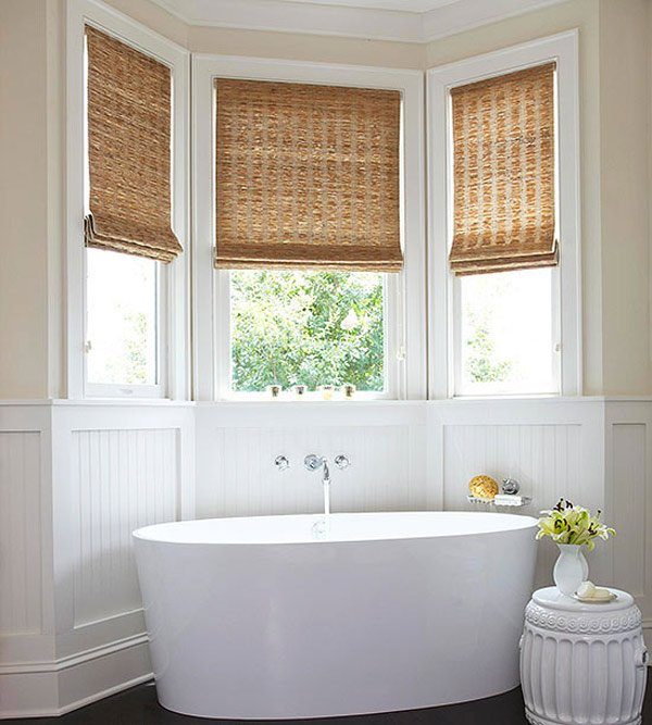 bathroom window treatments woven window fix RWKFMQR