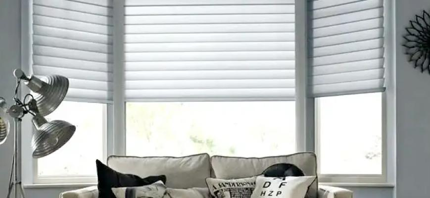 bay window blinds bay window treatments - window blinds VSNRWJQ