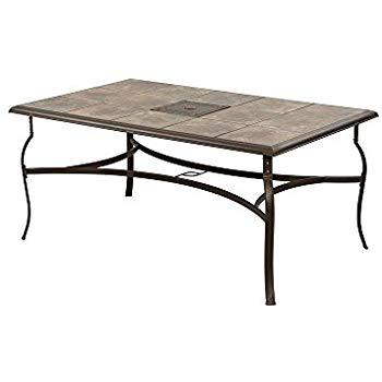 belleville rectangular patio dining table KEQYHWP