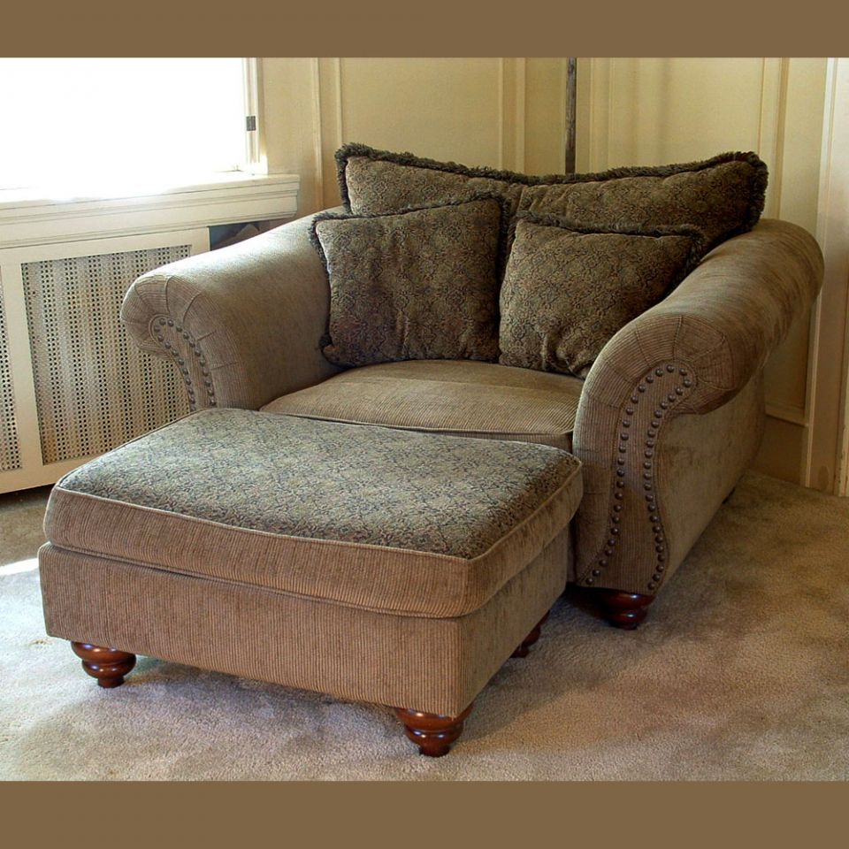 big chair with ottoman ritzy ... SSRMONL