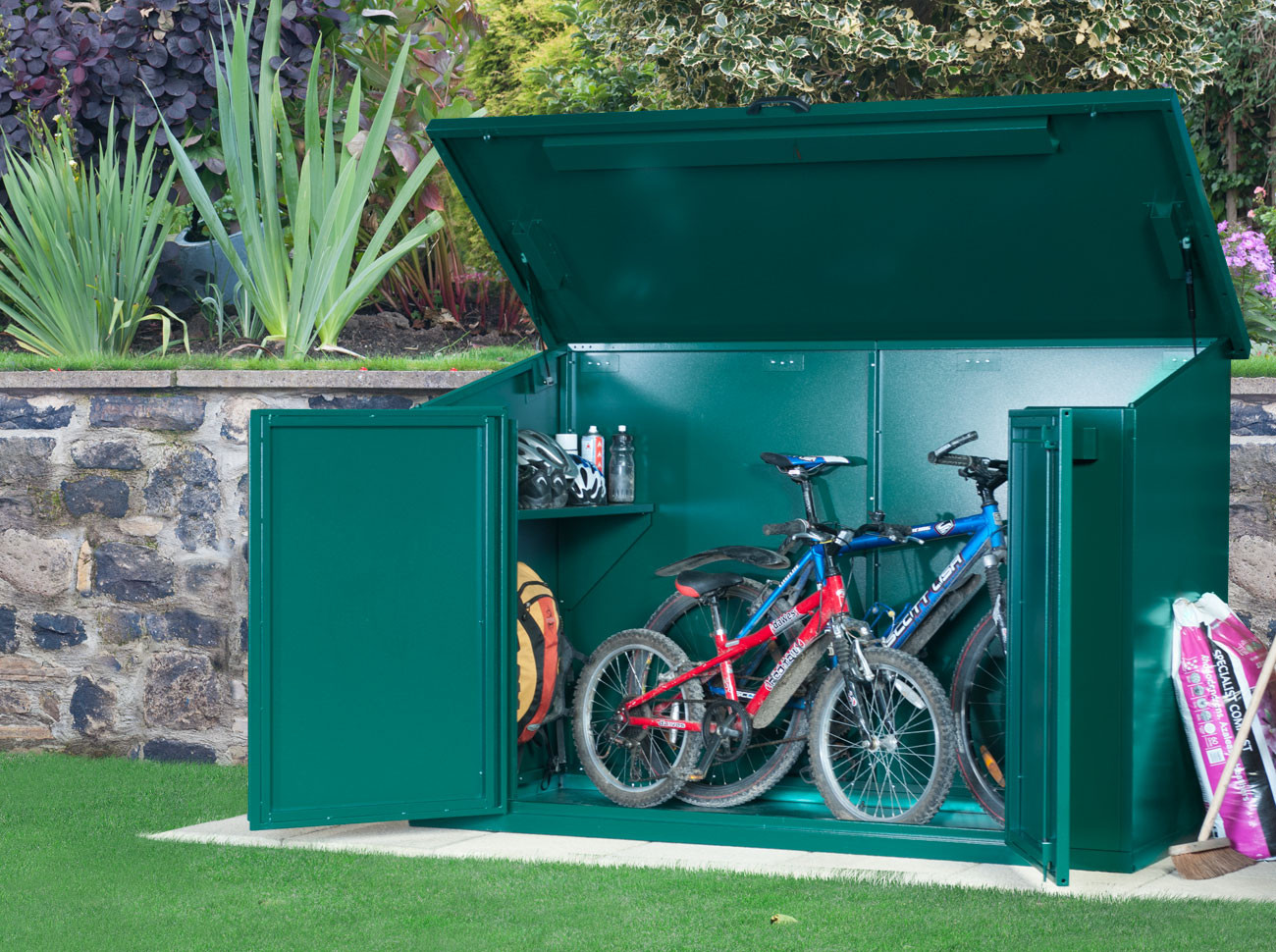 bike storage shed access bike store YZQYEHW