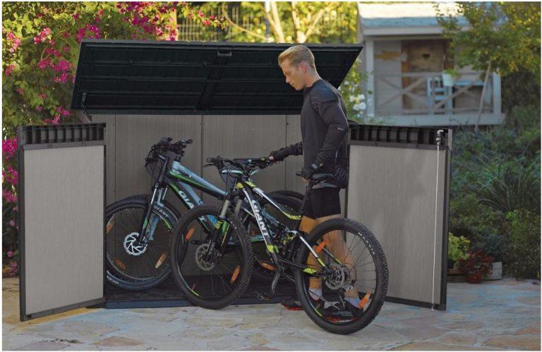 bike storage shed plastic bike storage sheds - grande store QUHISXU