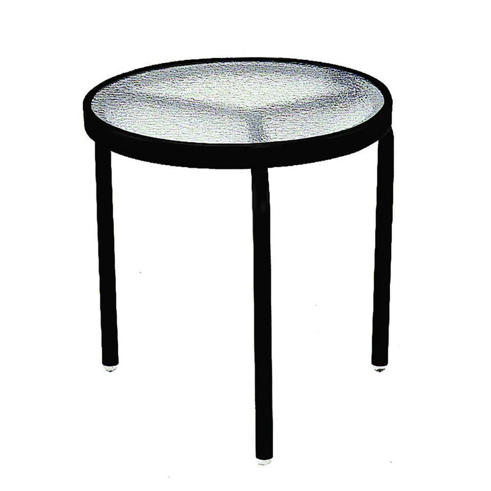 black acrylic top commercial patio side table SJCIAYH