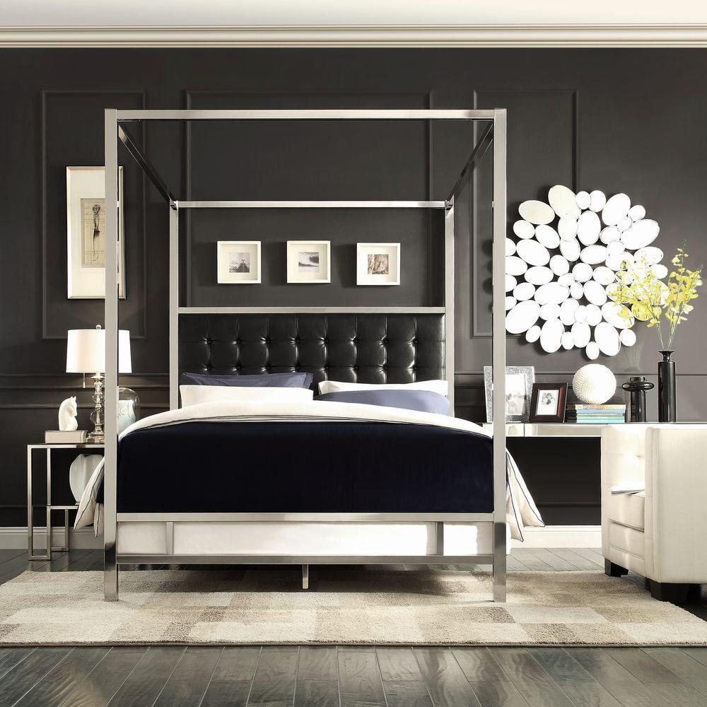 black canopy bed homesullivan taraval black queen canopy bed DJFJFUZ