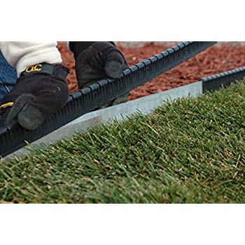 black guard-n-edge protective cover for metal lawn edging | includes 30 feet AEBRUMO