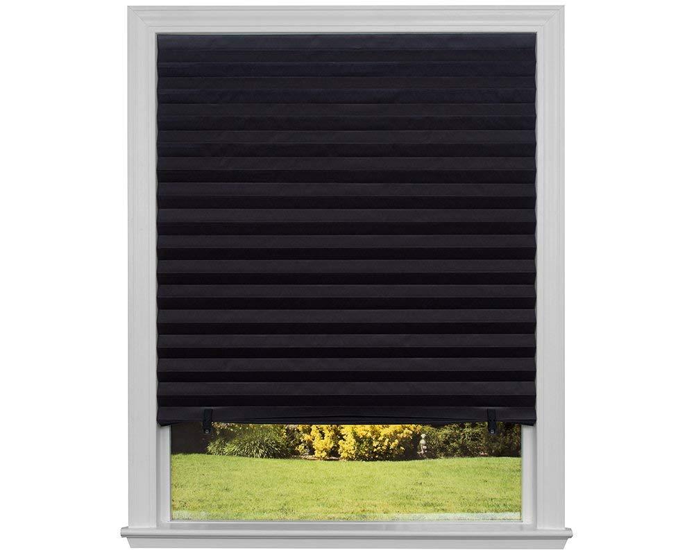 blackout blinds amazon.com: original blackout pleated paper shade black, 36u201d x 72u201d, 6-pack: TQUAUAP