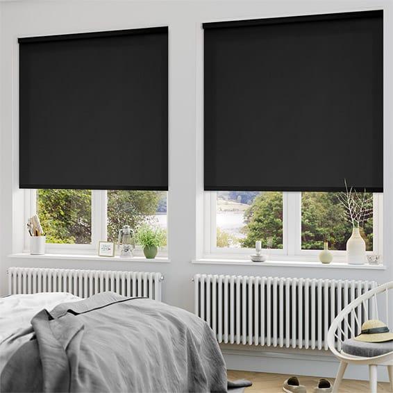 blackout roman blinds sevilla tranquility black blackout roller blind VTOCUPF