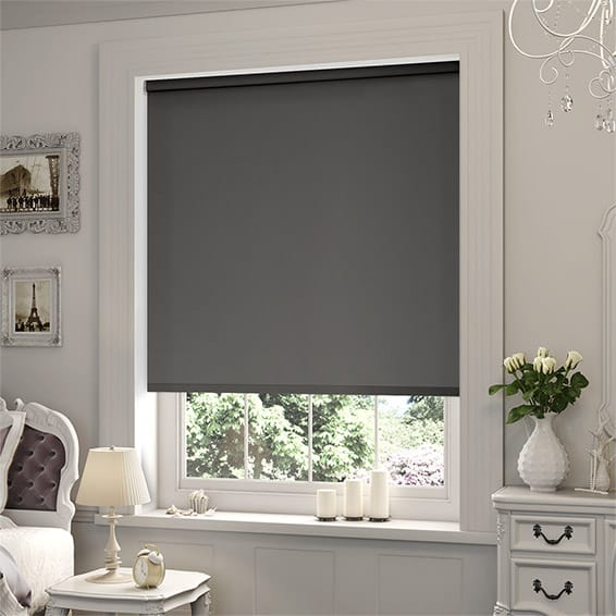 blackout roman blinds sevilla tranquility pewter blackout roller blind UOVLCLH