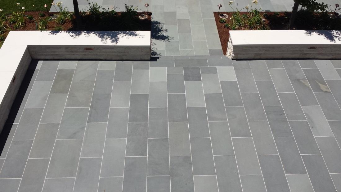 blue stone pavers select blue thermal finish bluestone paving XHXZDJK