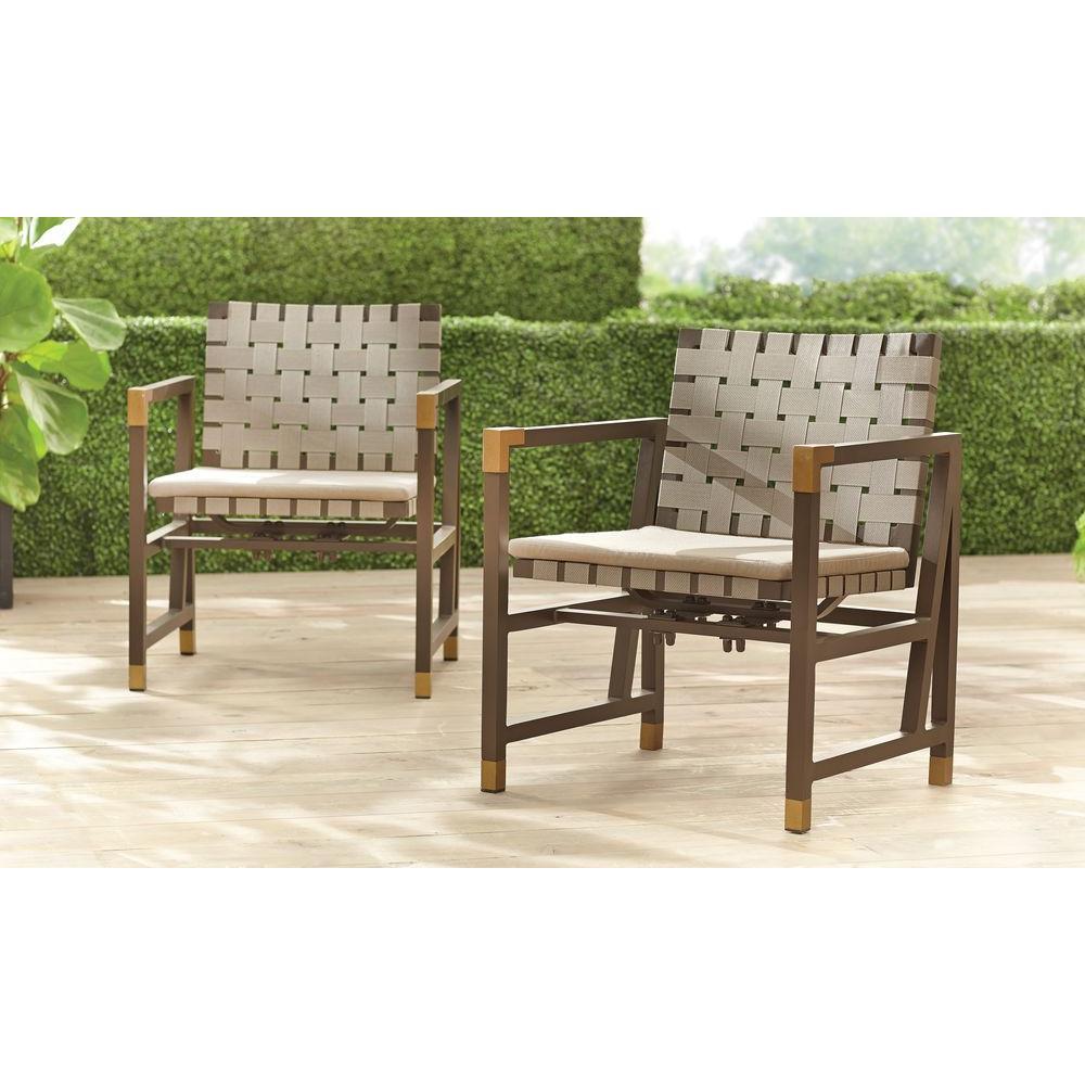 brown jordan patio furniture brown jordan form patio motion dining chair in sparrow (2-pack) -- FYWHIXW