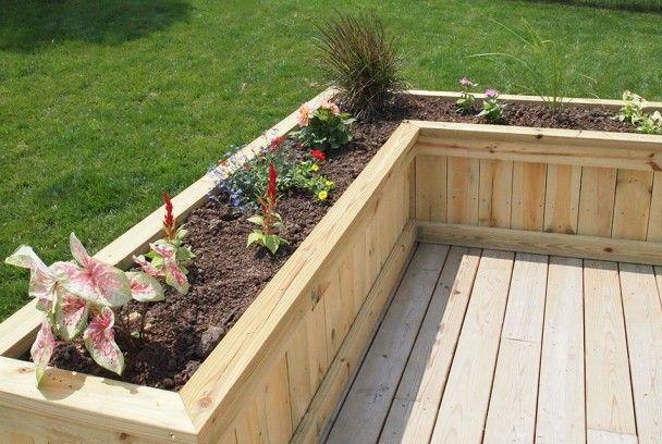 built in deck planters | deck planter/flower box - sawdust therapy FLDTXJJ