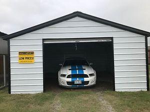 carport garage image is loading garage-18x21x7-all-steel-metal-garage-carport-installed- MZPWMEY