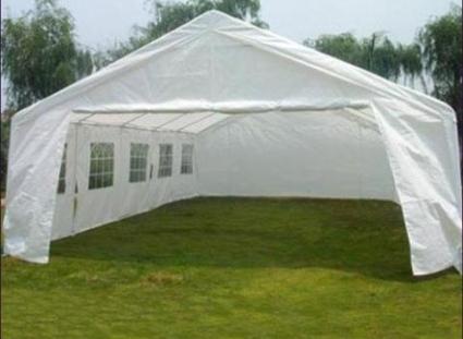 carport tent 20u0027 x 32u0027 large white heavy duty portable garage carport canopy party RIABOHI