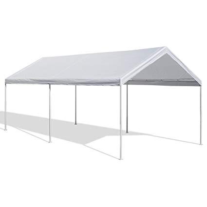 carport tent caravan canopy 10 x 20-feet domain carport, white YPPDKTT