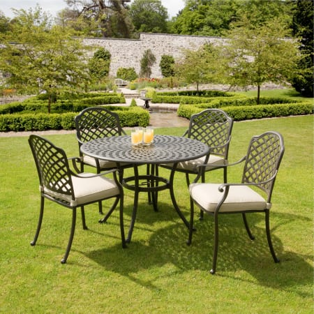 cast aluminium garden furniture suntime buckingham 1m cast aluminium patio furniture set FTPAWJH