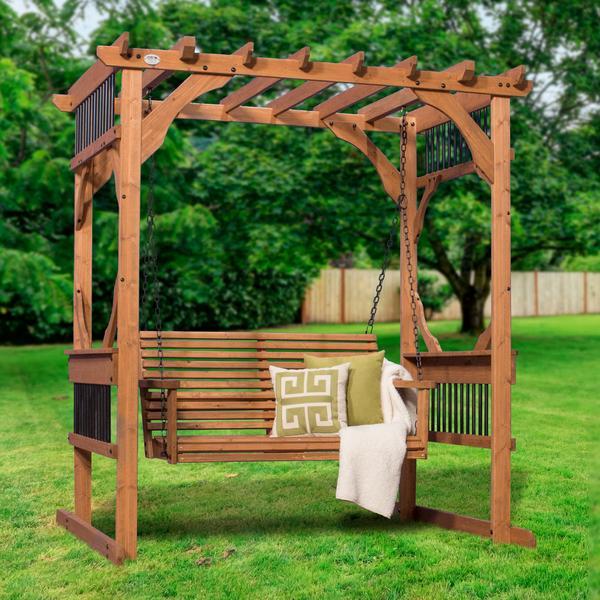 cedar pergola swing - patio products   backyard discovery YQBJEOE