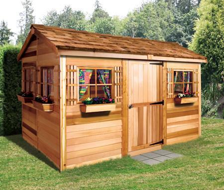 cedar sheds ... beachouse with cedar roof ... QBSUPXI