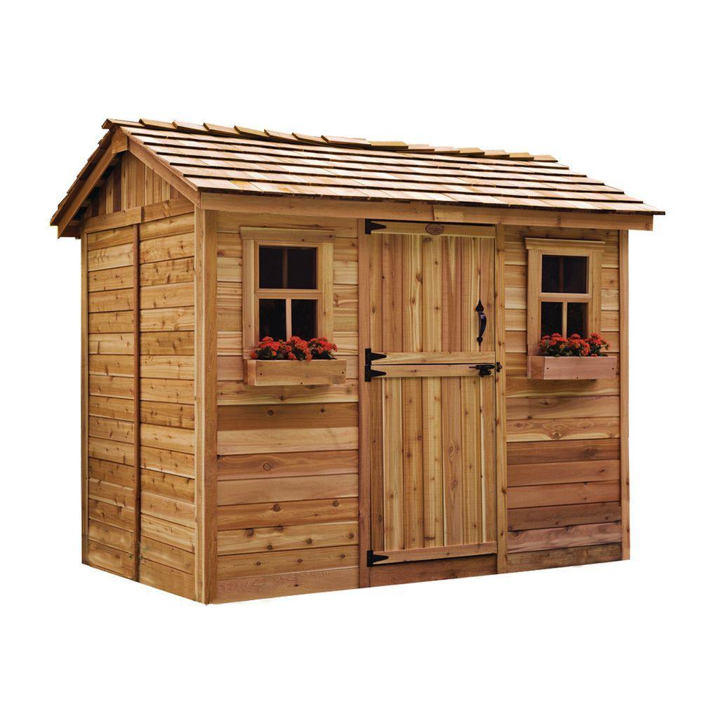 cedar sheds outdoor living today cabana 6 ft. x 9 ft. western red cedar AHOKASL