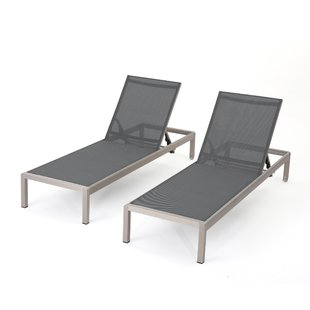 chaise lounge outdoor lacon mesh chaise lounge set (set of 2) BGMJTHR