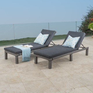 chaise lounge outdoor puerta outdoor adjustable pe wicker chaise lounge with cushion by  christopher RZDRUGS