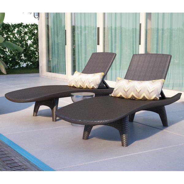 chaise lounge outdoor wade logan clarita reclining chaise lounge u0026 reviews | wayfair RRDTWBK