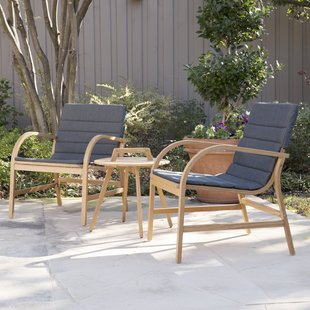 chenier 3 piece outdoor seating group with removable cushions UXUVSJQ