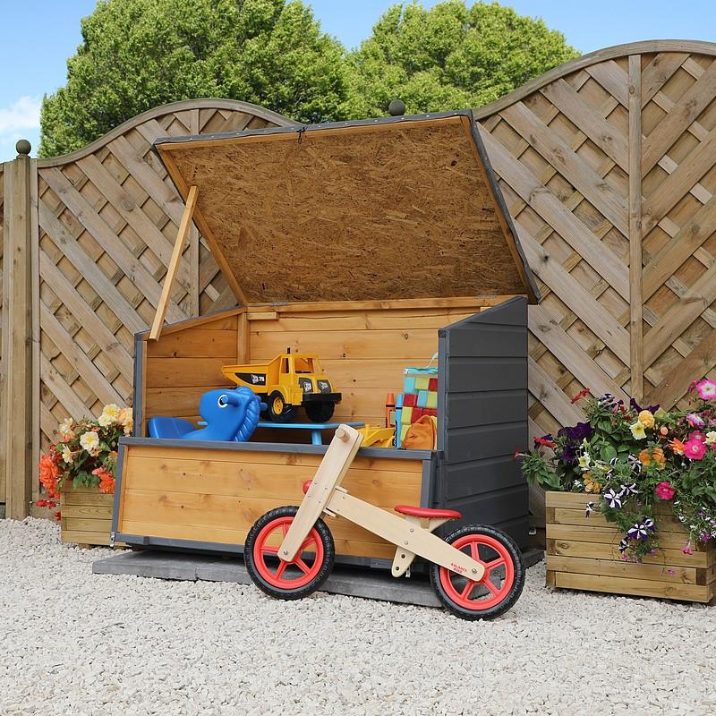 click image to enlarge 4 x 3 waltons wooden garden storage chest DRVFYEA