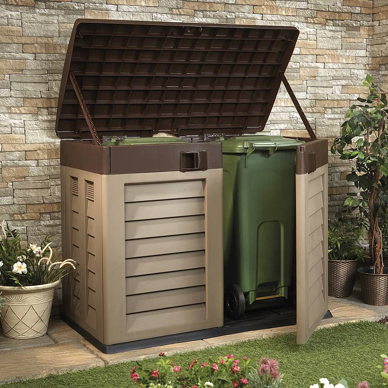 click image to enlarge garden storage shed and bin store PMCUQRR