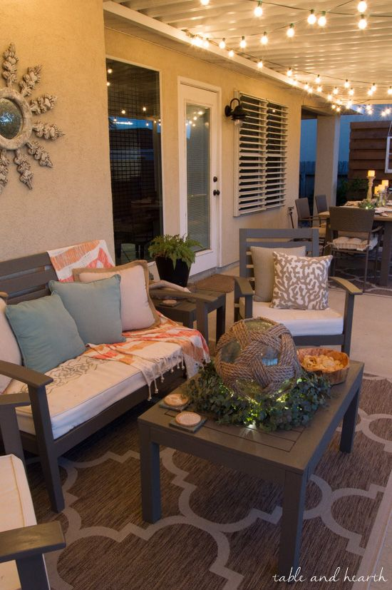 coastal summer patio decor - rustic touches and a little whimsy bring COPYSUK