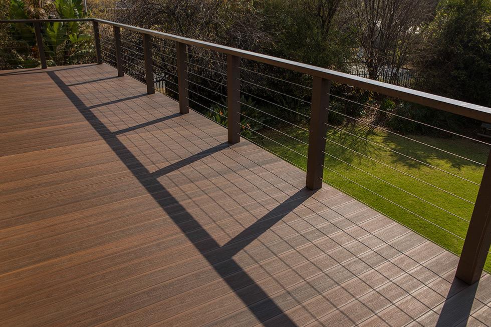 composite deck railing posts can harmonize with a composite deck. FLJCSES