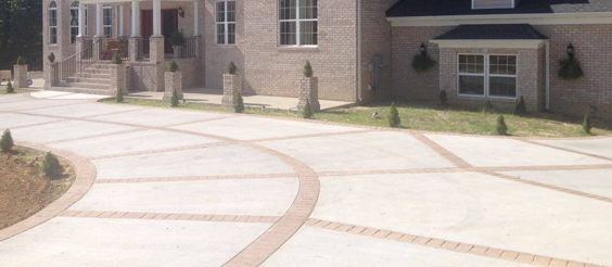 concrete driveways are more flexible and can be patterned using different WOLWKQF