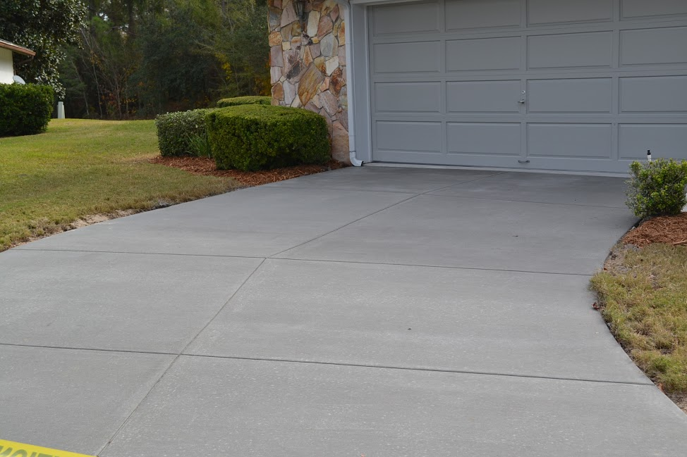 concrete driveways concrete driveway restoration performed in central florida OMKBTYA