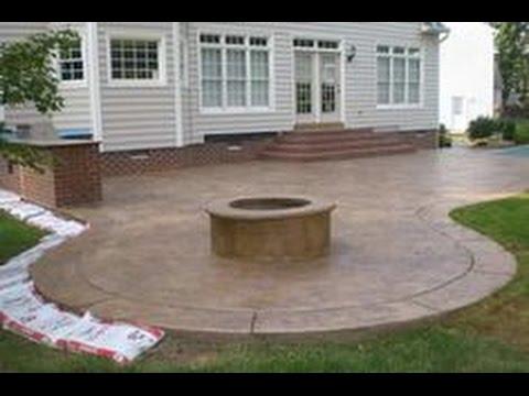 concrete patio ideas~concrete patio ideas and pictures - youtube TUWBDCG