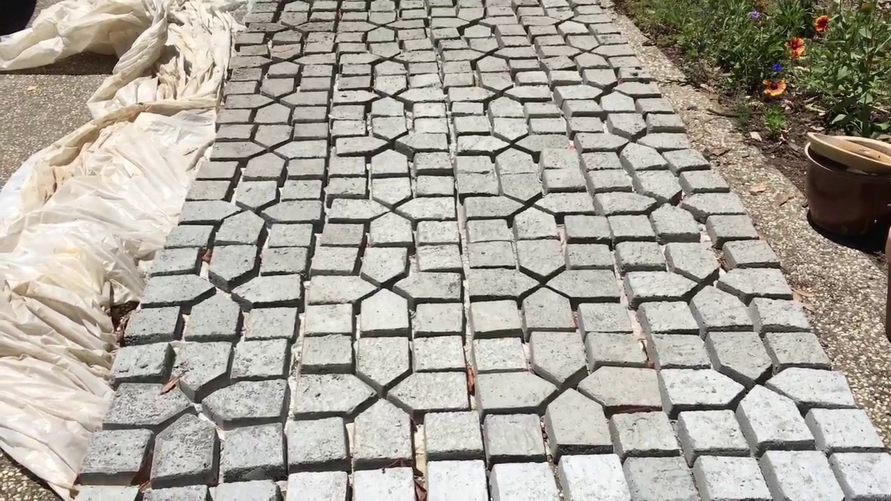 concrete pavers making your own pavers from a concrete mold KBLGSDL