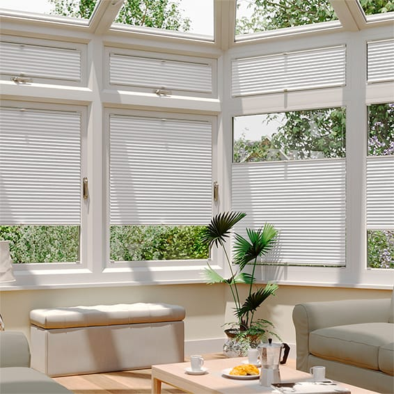 conservatory blinds duolight bright white easifit thermal blind WFLUJJW