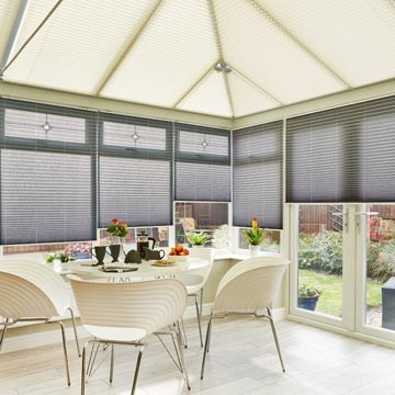 conservatory roof blinds kari-cream-crush-charcoal-pleated-blind-conservatory MXCZYRS