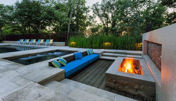 contemporary cool backyard ideas with fire pit XIALRJZ