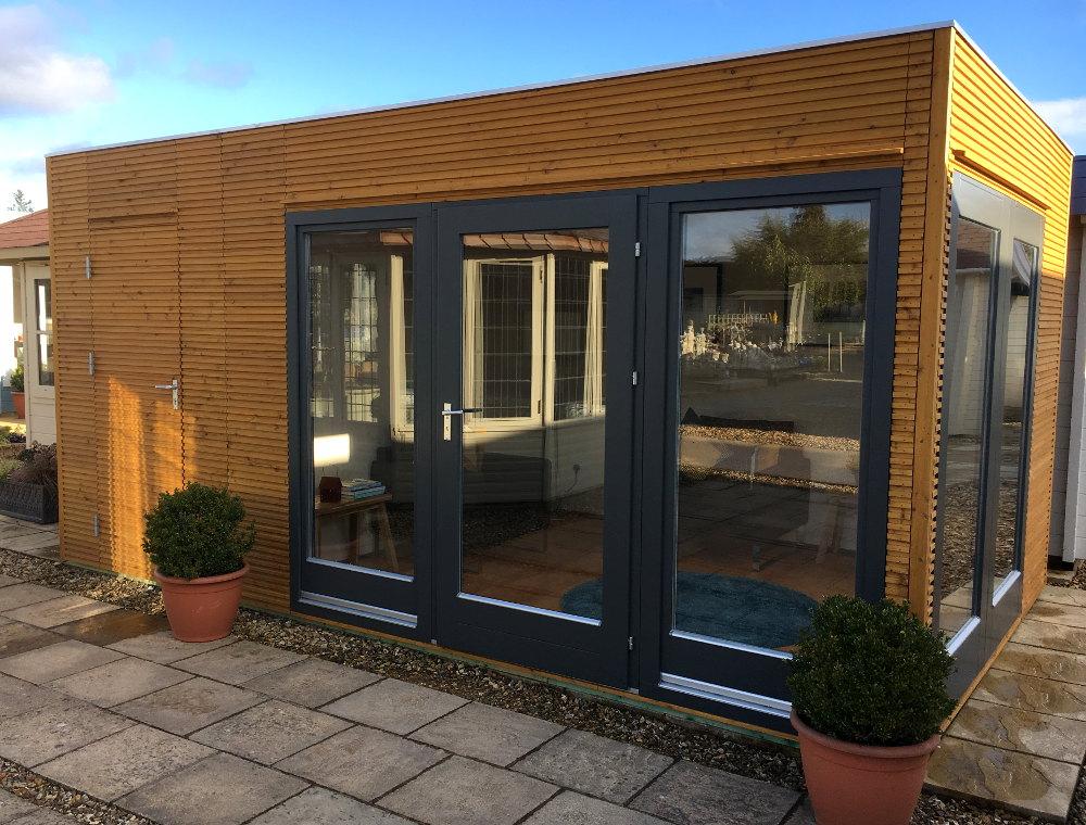 contemporary garden rooms linea garden office or studio EFKYWDK