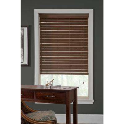 cordless blinds 2-1/2 in. faux wood blind KCURIUN