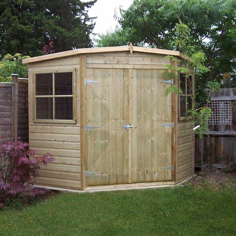 corner sheds shire pressure treated corner shed 8x8 HTZGBNU