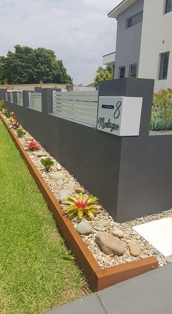 corten garden edging with return fold by ironbark metal design XJOMBDQ
