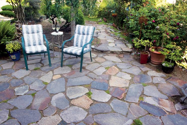 create your own flagstone patio ZGEYZHD