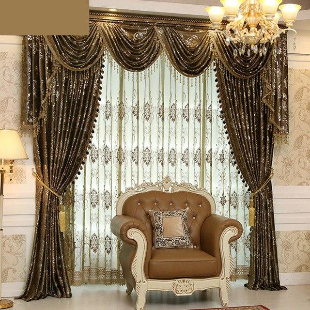 custom curtains custom curtain high class european luxury velvet fabrics bronzing embossing  cloth CCNMTSN