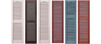 custom, louvered vinyl shutters CCTYIYB