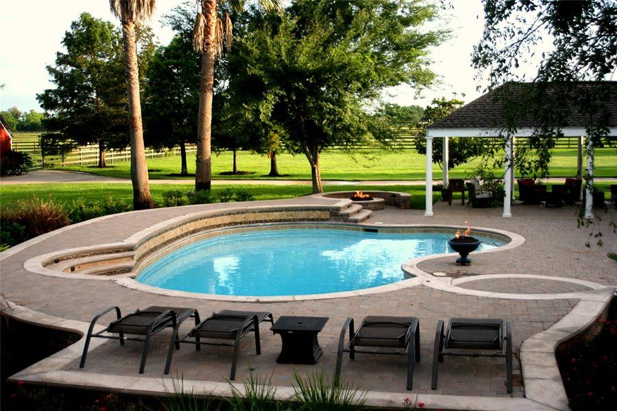 custom pool, pool design lightfoot landscapes, inc. houston, tx MLNPIGM
