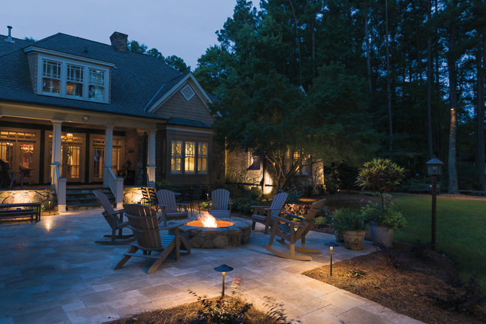 deck and patio lighting - patio fire pit ERYYWHB