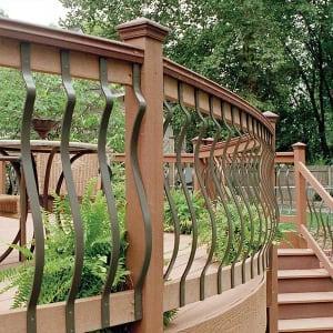 deck balusters deckorators baroque architectural aluminum baluster - bronze XOOFJMP