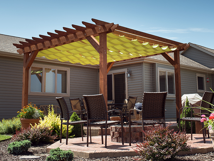 deck canopy diy slide-on wire-hung canopy for a pergola HGLVTCA