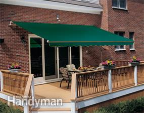 deck canopy retractable deck and patio awning with hidden supports WHLBRYQ